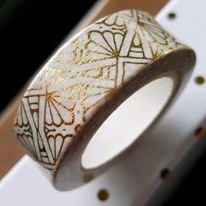 🆕 NEW Gold Design Washi Tape 15mmx10m